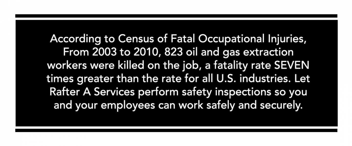 Rafter A. Services is the premier provider of workplace safety inspections, H2S training, oilfield safety and consulting services, and fire extinguisher sales in San Angelo, TX , proudly serving nation-wide.